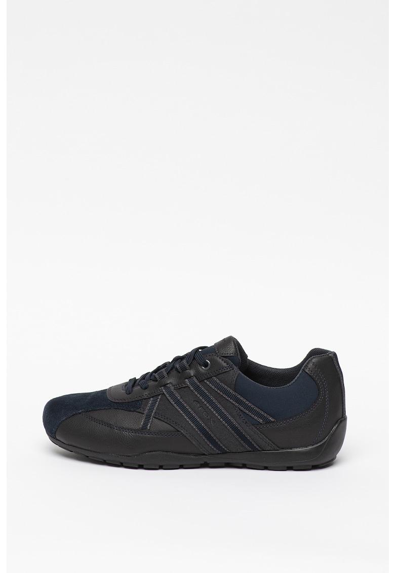 Pantofi sprot cu insertii de piele intoarsa ecologica Ravex