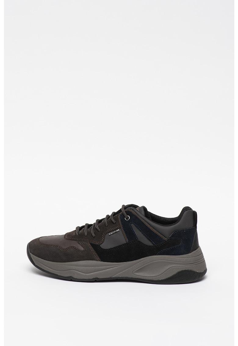 Pantofi sport de piele intoarsa si material textil Tortona