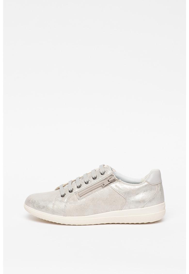 Pantofi sport cu insertii de piele Snake