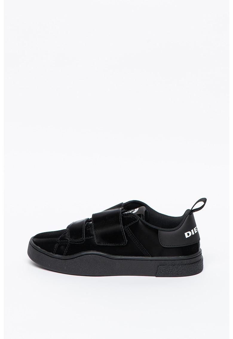 Pantofi sport din piele ecologica cu inchidere velcro Clever
