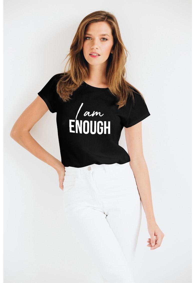 Tricou de bumbac organic cu imprimeu text de la Andreea Raicu