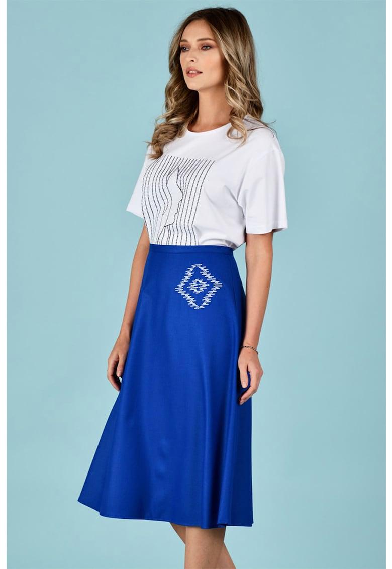 Fusta midi evazata Format Lady fashiondays.ro