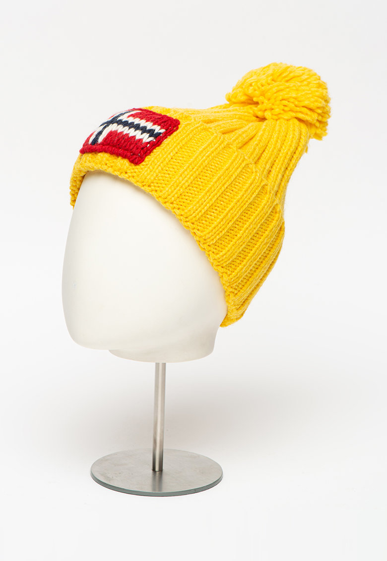 Napapijri Caciula tricotata din amestec de lana - cu ciucure Semiury