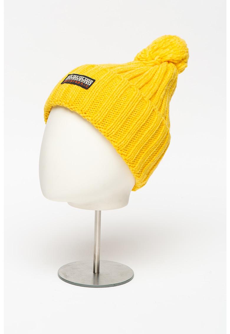 Caciula din amestec de lana tricotata - cu ciucure Fea imagine