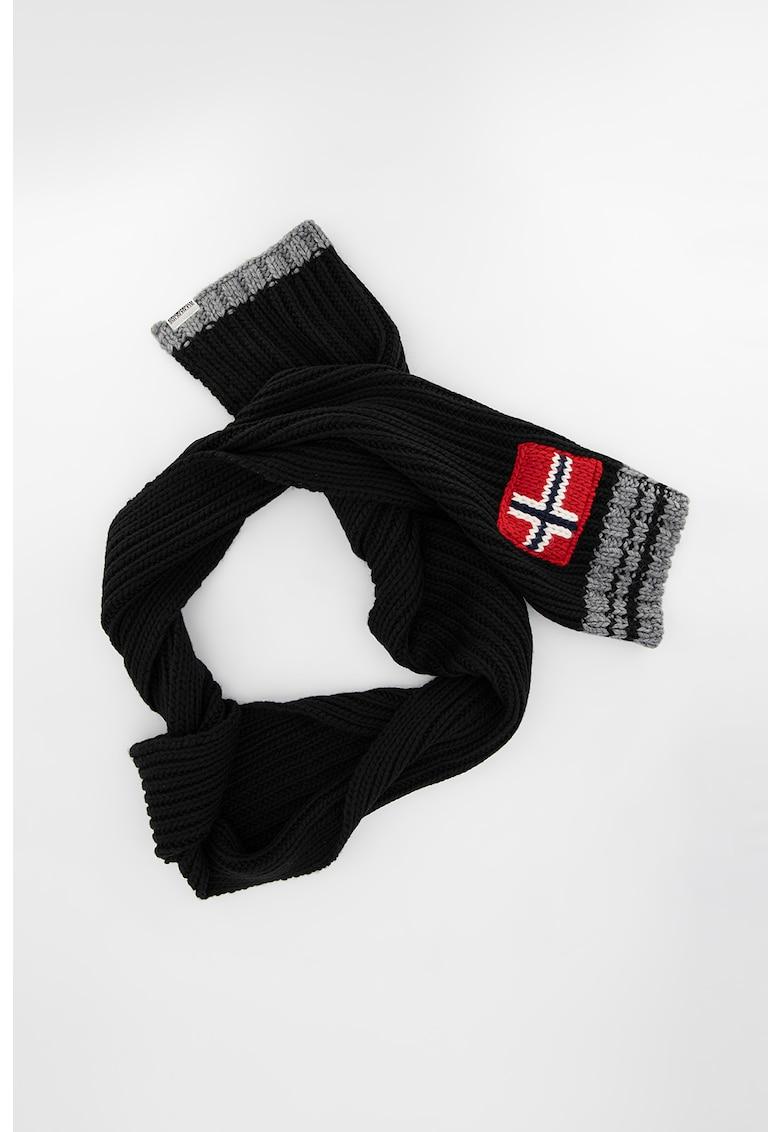 Fular din amestec de lana cu logo Foreil poza fashiondays