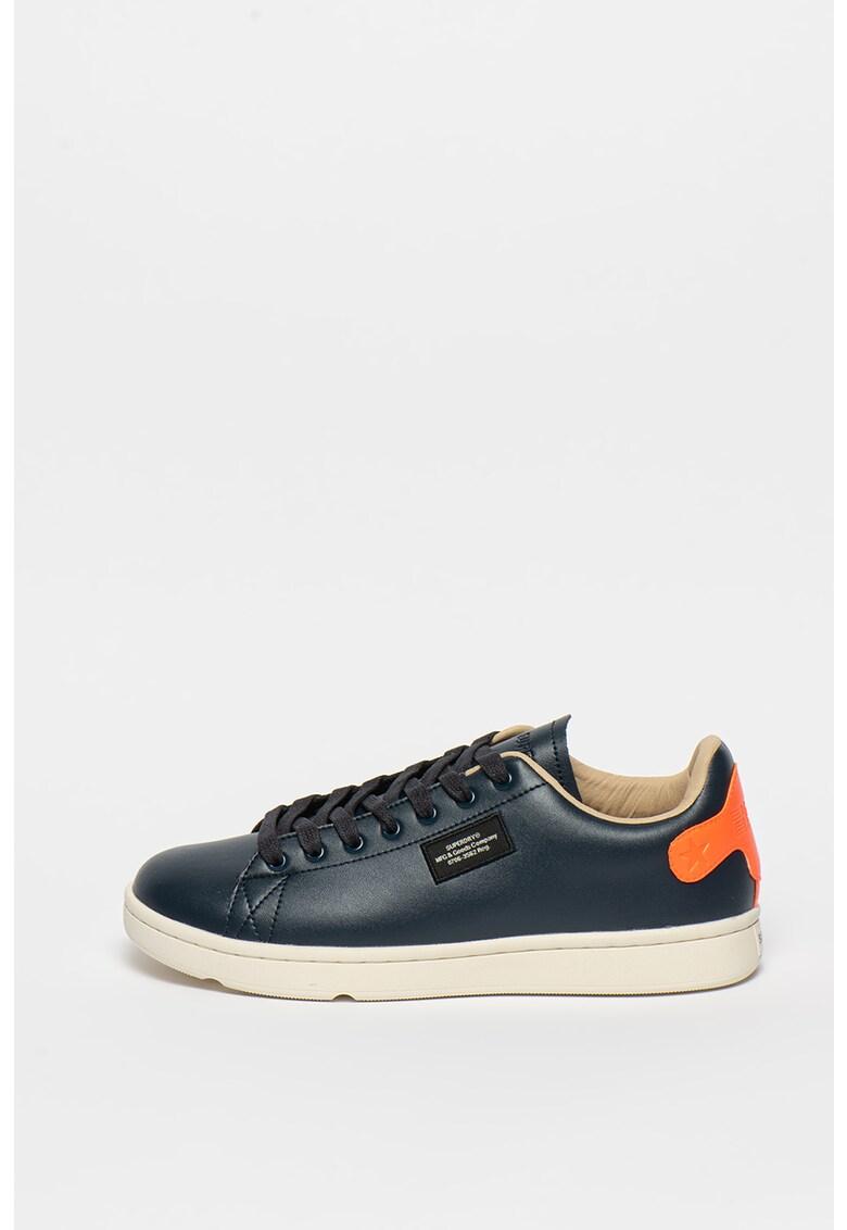 Pantofi sport din piele ecologica cu garnituri contrastante Vintage