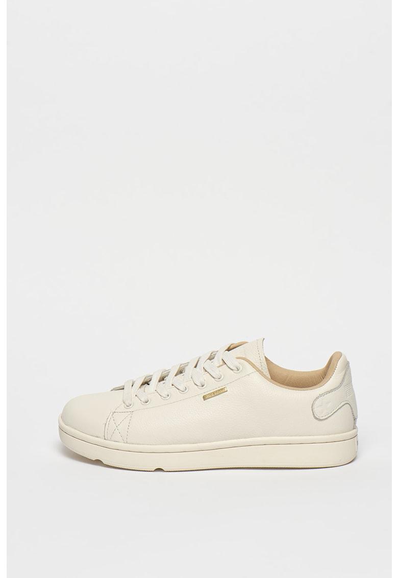 Pantofi sport din piele cu logo Premium Vintage
