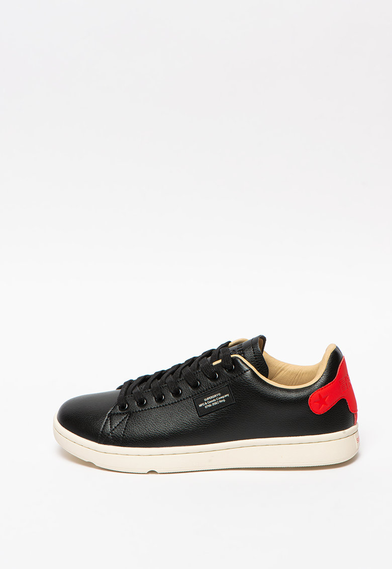 Pantofi sport din piele ecologica Vintage Tennis