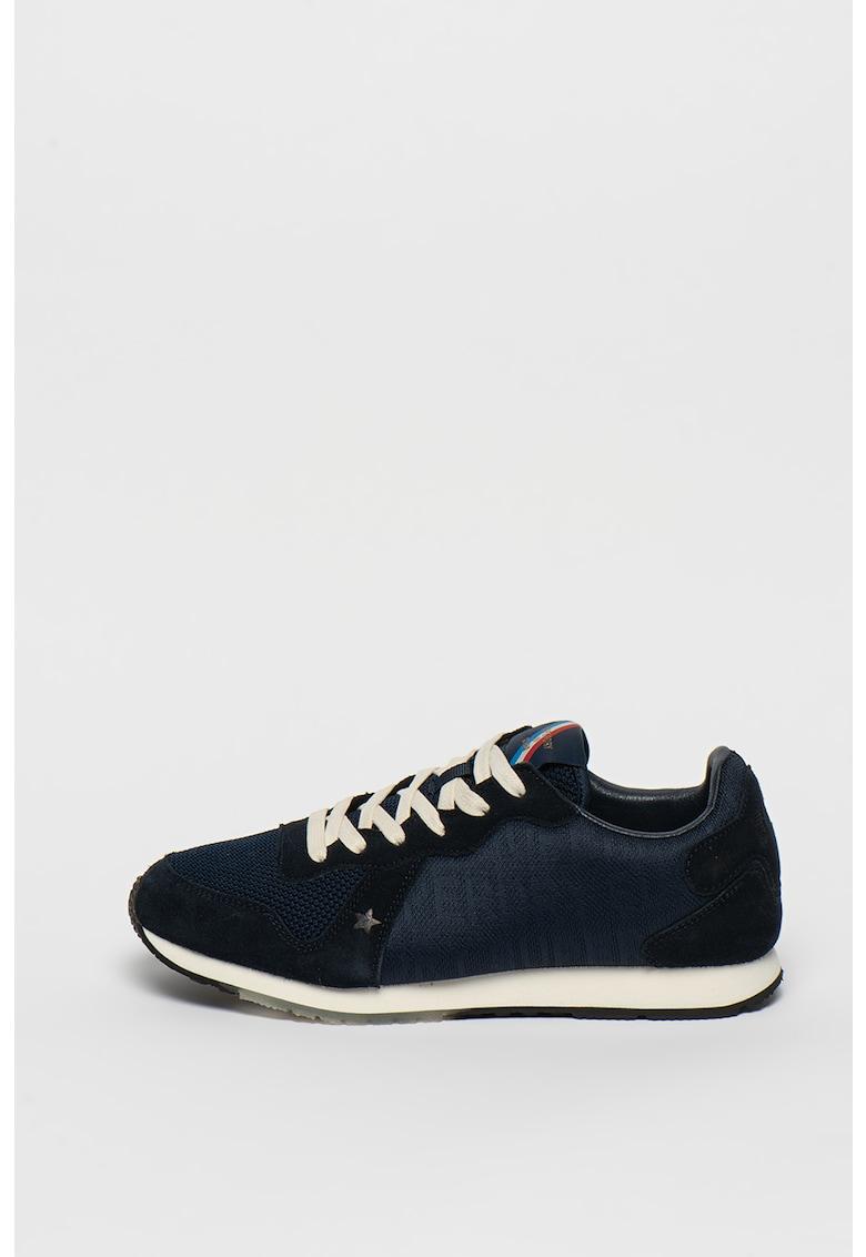 Pantofi sport cu garnituri din piele intoarsa si logo Retro
