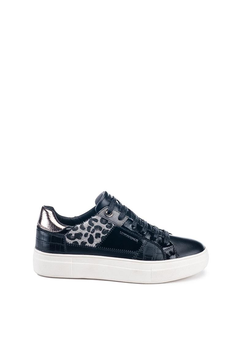 Pantofi sport low cut din piele ecologica