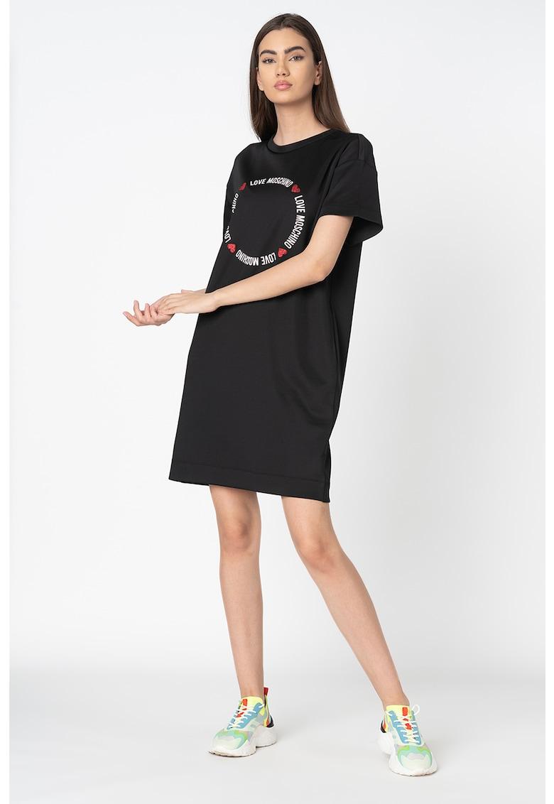 Rochie tip tricou cu buzunare laterale imagine