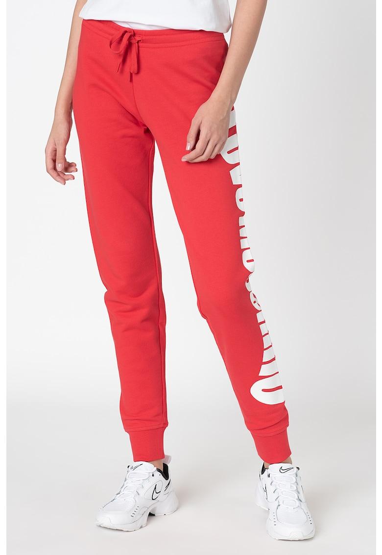 Pantaloni sport conici cu logo
