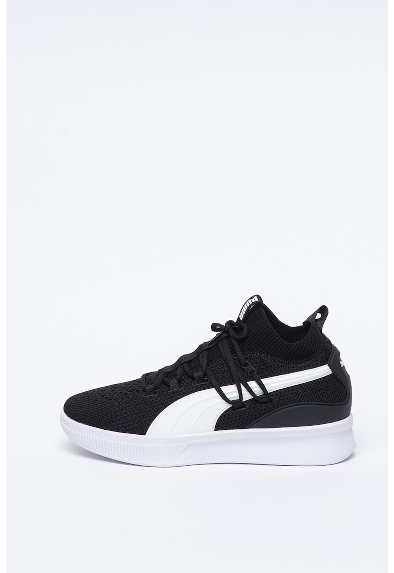 Pantofi mid-high texturati - pentru baschet Clyde Court