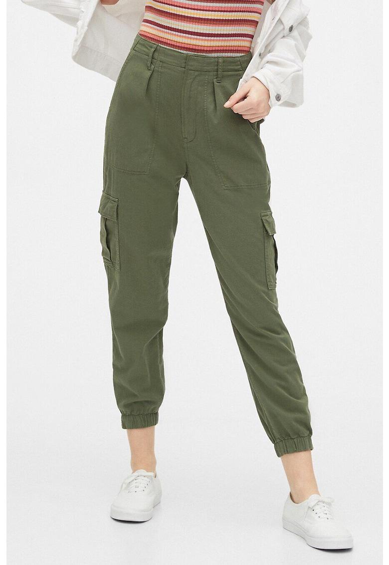 Pantaloni cargo din amestec de lyocell