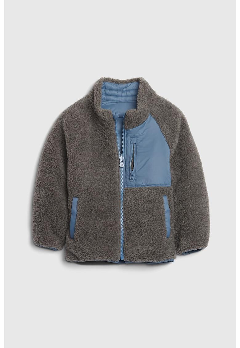 Jacheta de blana sintetica - cu maneci raglan