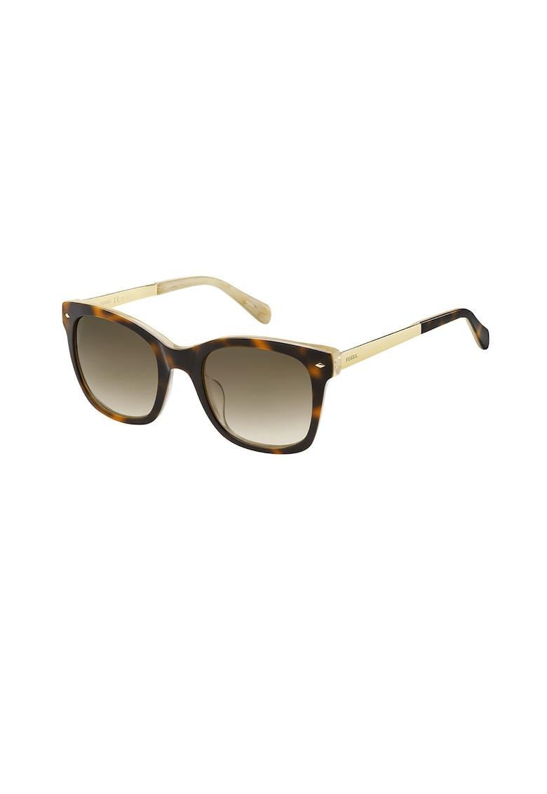 Ochelari de soare patrati cu rama cu model tortoise poza fashiondays