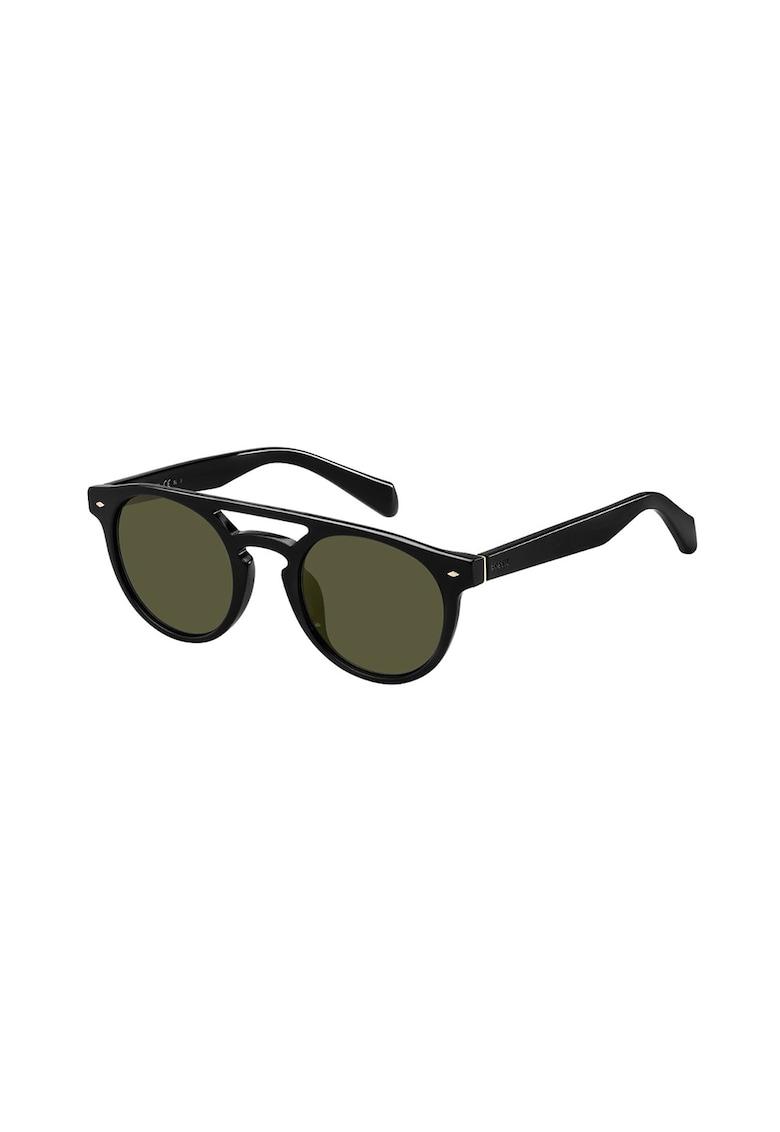 Ochelari de soare aviator rotunjiti imagine fashiondays.ro Fossil