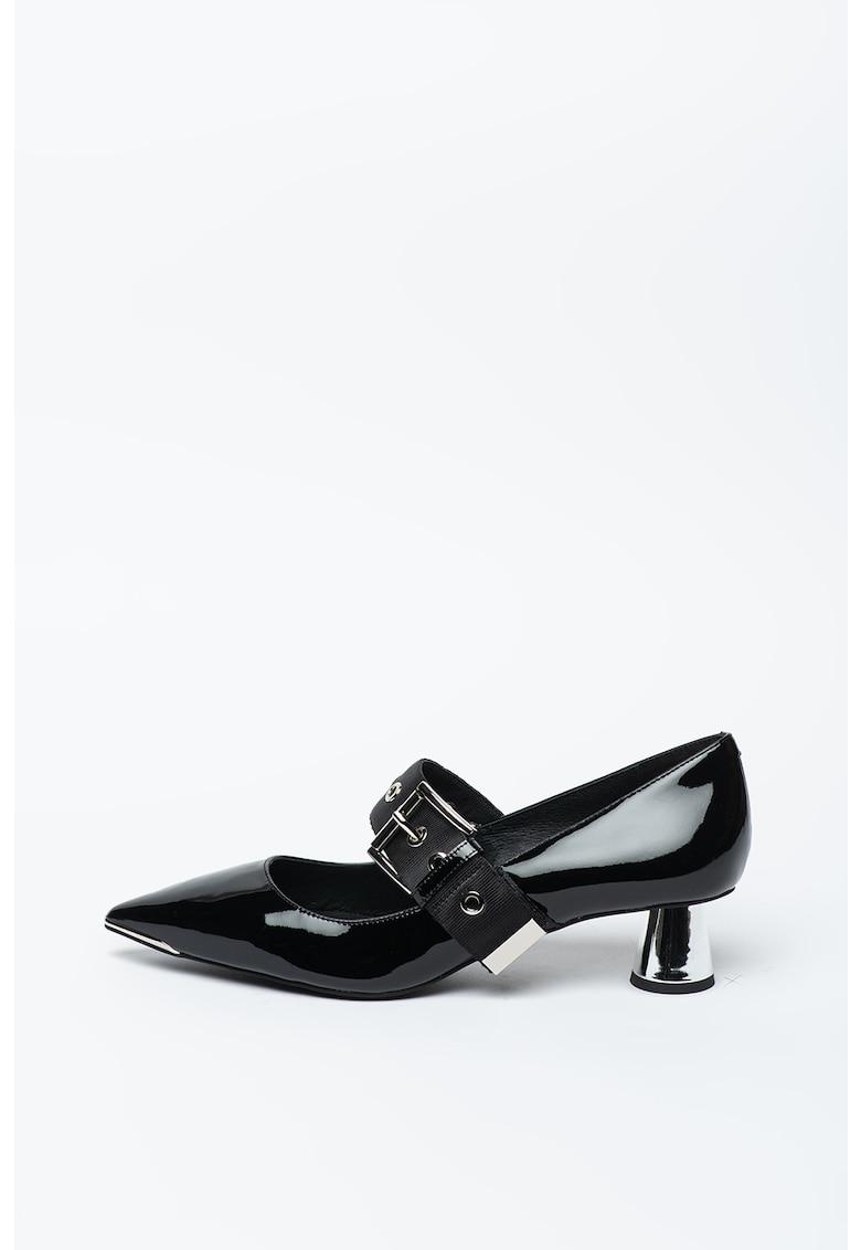 Pantofi Mary-Jane de piele lacuita cu varf ascutit Desmon