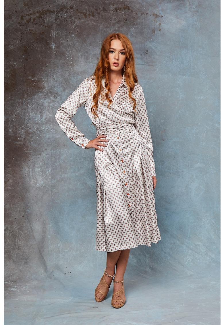 Set de bluza si fusta din amestec de matase Blanche imagine fashiondays.ro MIAU by Clara Rotescu