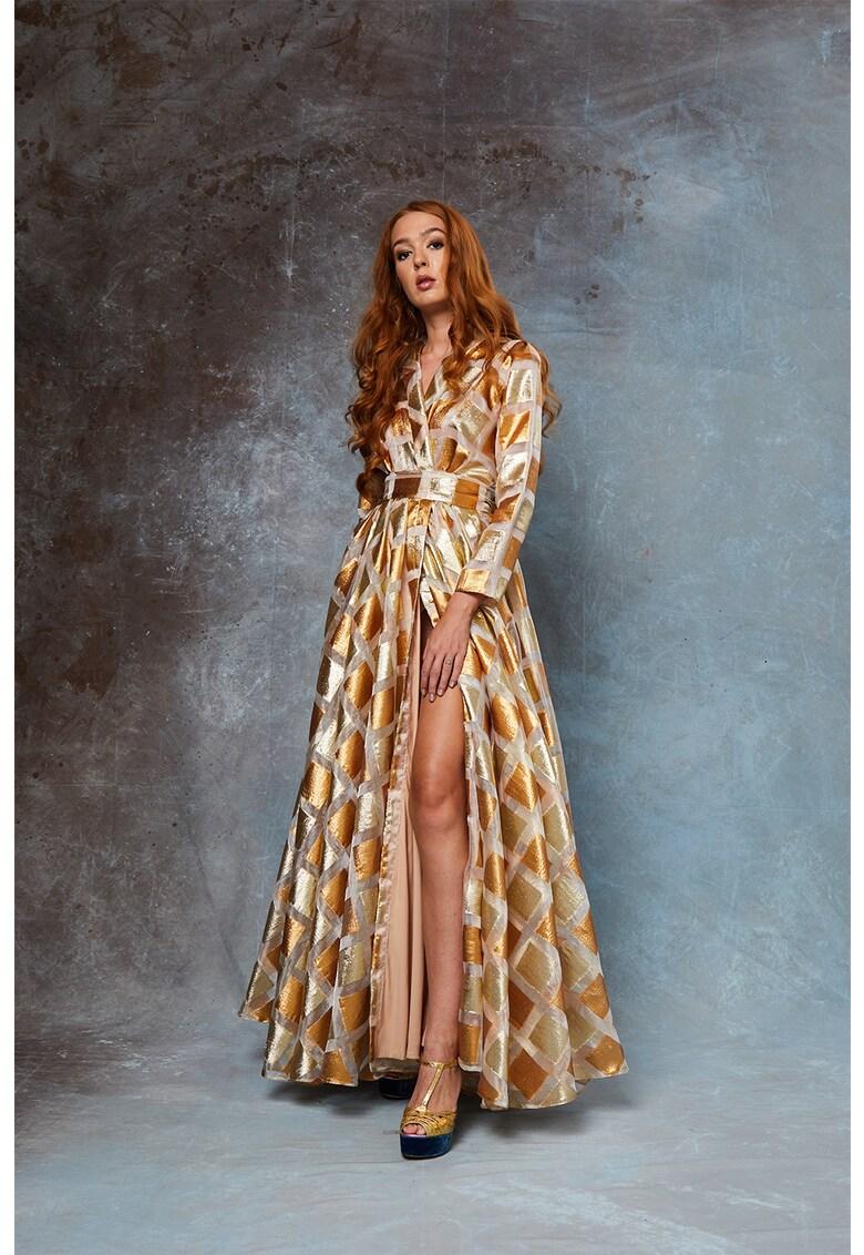 Rochie maxi cu model stralucitor Viktoria