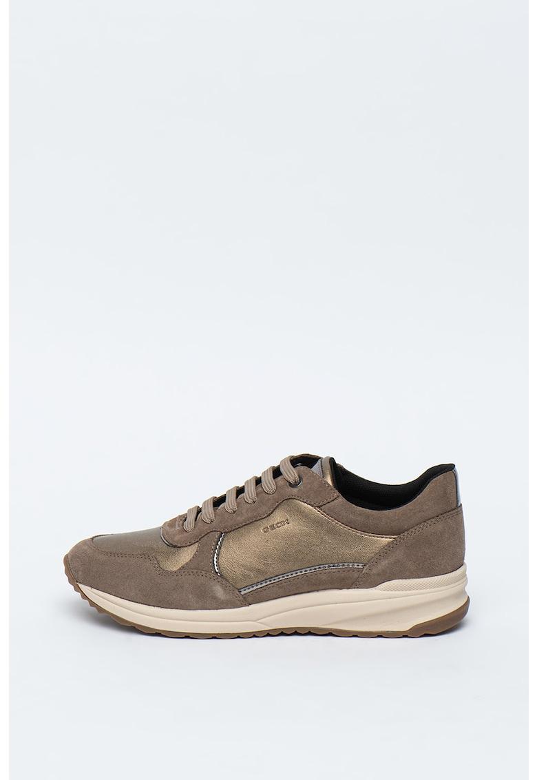 Pantofi sport de piele ecologica si piele intoarsa Airell