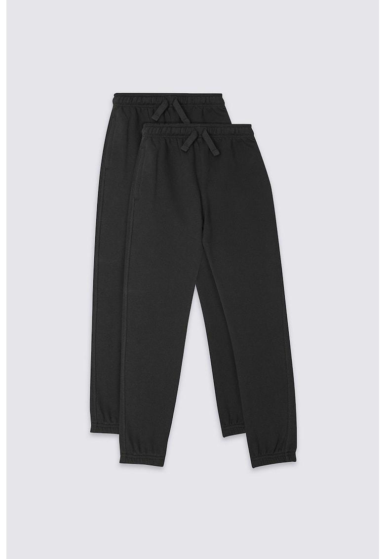 Set de pantaloni sport cu snur de ajustare in talie - 2 piese Marks & Spencer fashiondays.ro