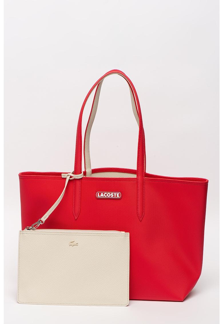 Geanta shopper de piele ecologica cu model reversibil imagine fashiondays.ro