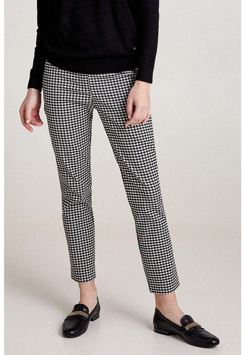 Pantaloni conici in carouri