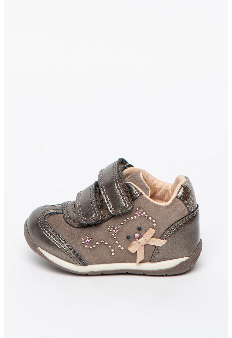 Pantofi sport cu velcro si insertii de piele intoarsa Each