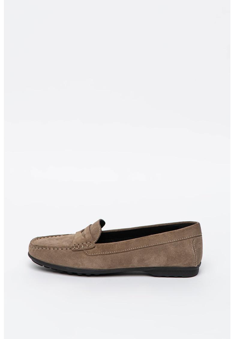 Pantofi loafer de piele intoarsa Elidia imagine