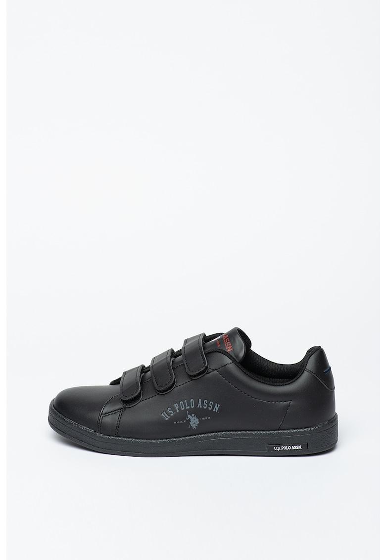 Pantofi sport din piele ecologica cu inchidere velcro Singer