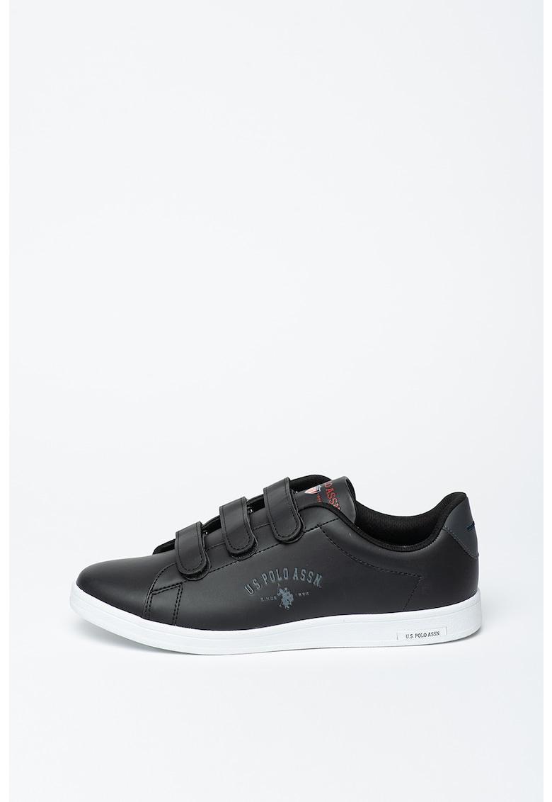 Pantofi sport din piele ecologica cu inchidere velcro