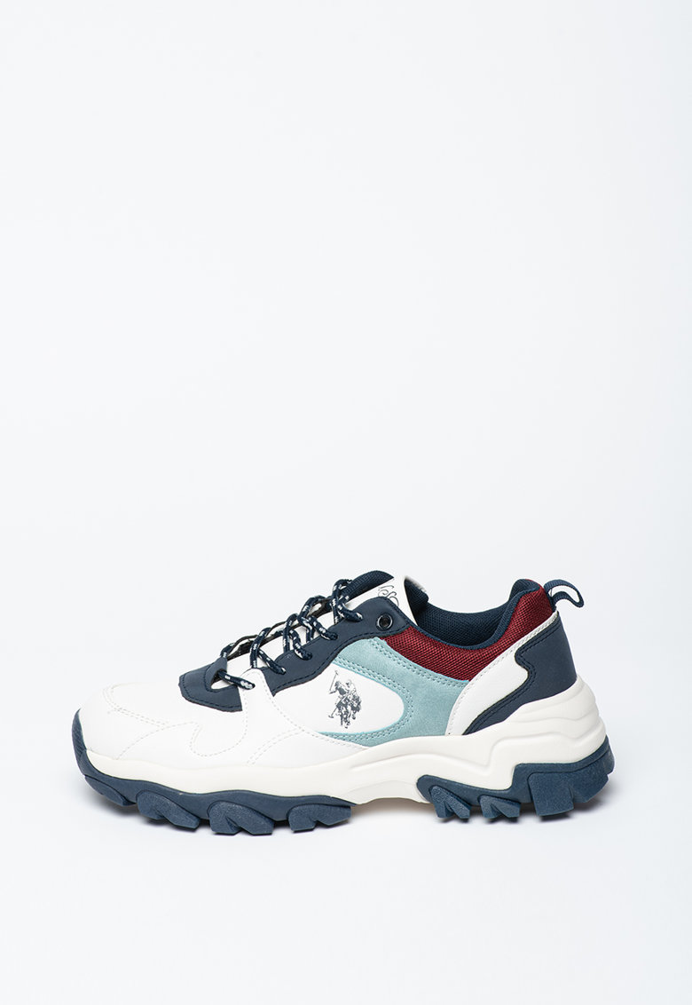 Pantofi sport din piele ecologica si material textil cu aspect masiv Tracky