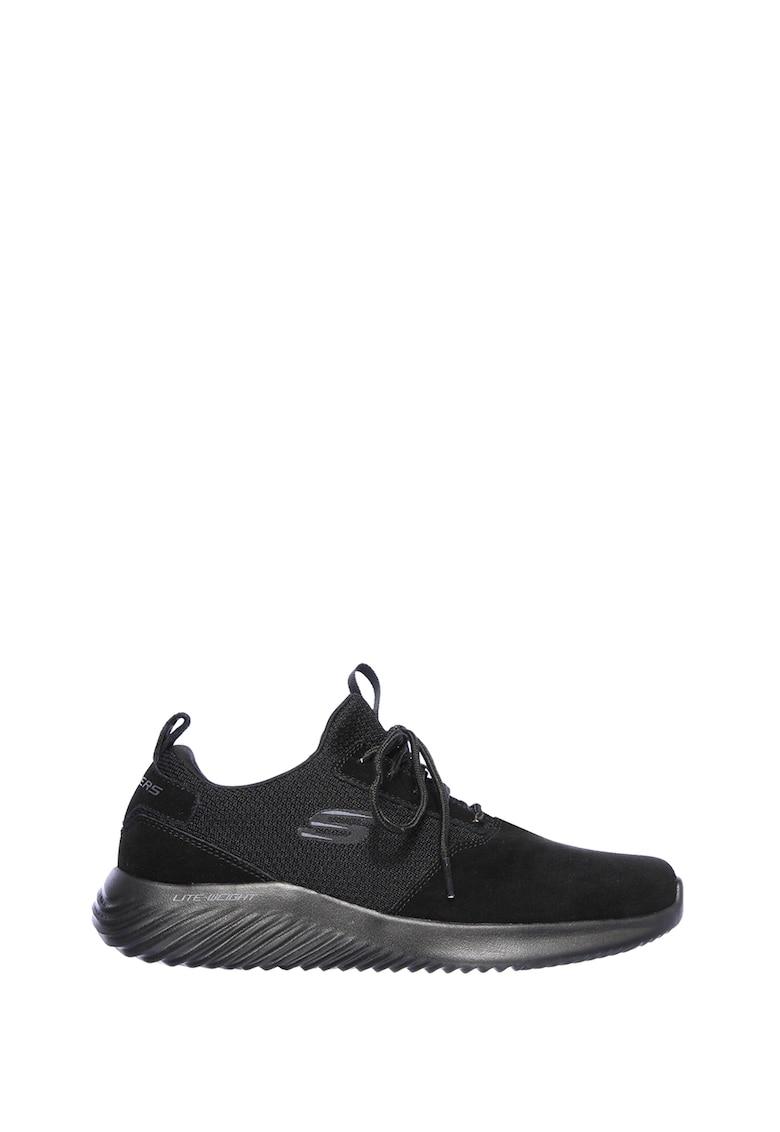 Pantofi sport slip-on cu segmente de piele intoarsa Bounder imagine