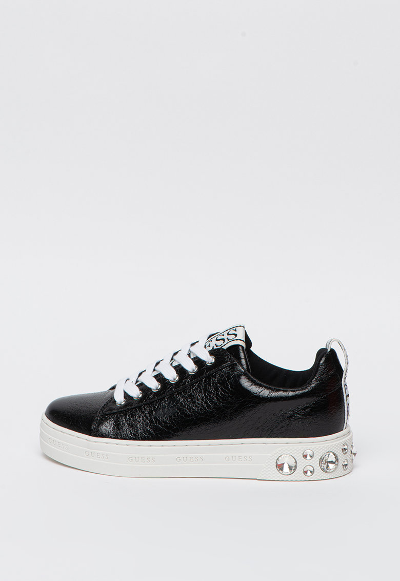 Pantofi sport din piele ecologica cu aplicatii cu strasuri pe talpa imagine