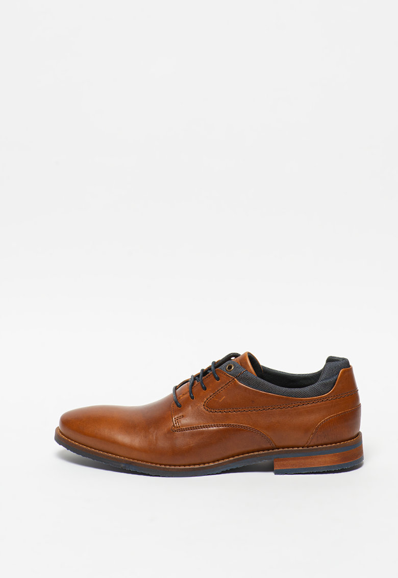 Pantofi de piele cu insertii textile imagine