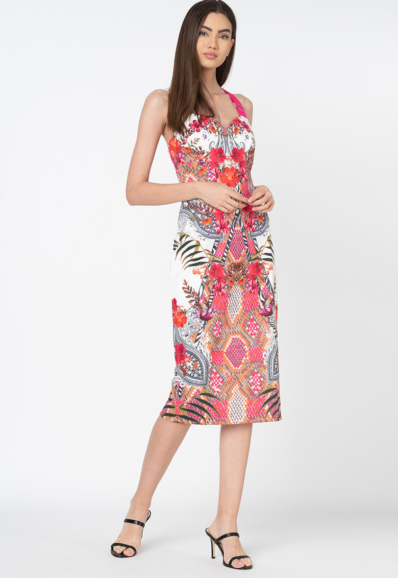 Rochie midi cu imprimeu floral Kloeey Ted-Baker