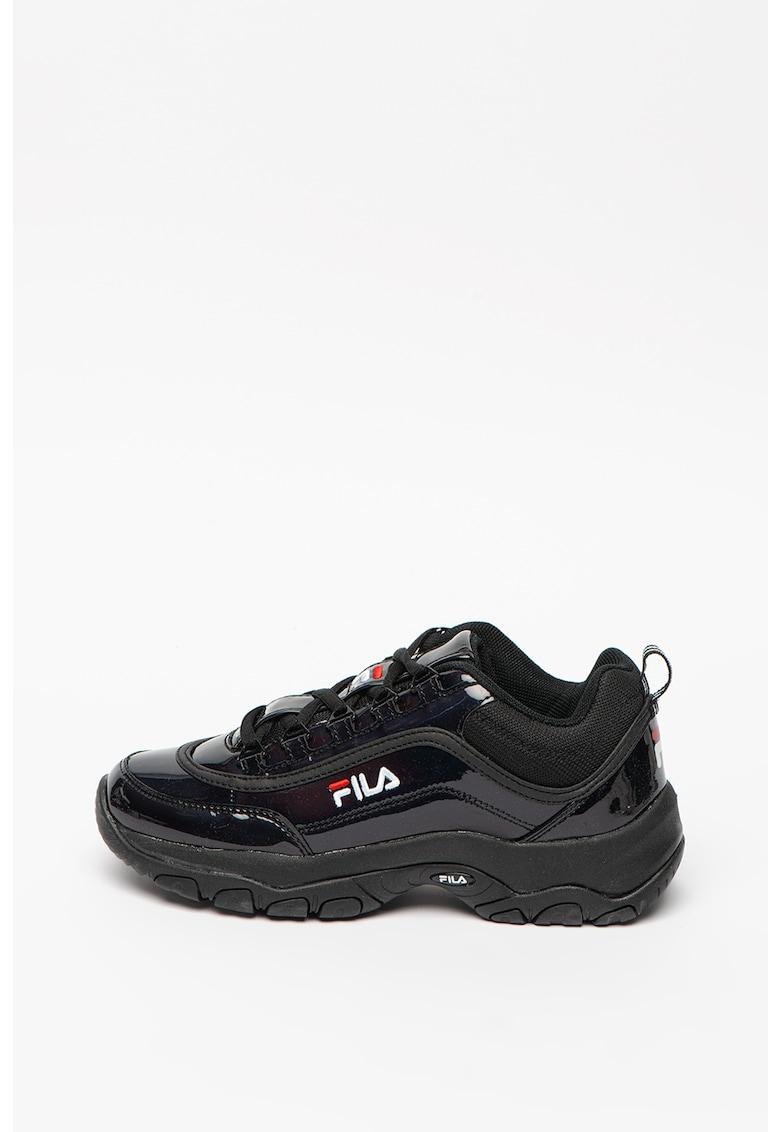 Pantofi sport de piele ecologica si material textil Strada