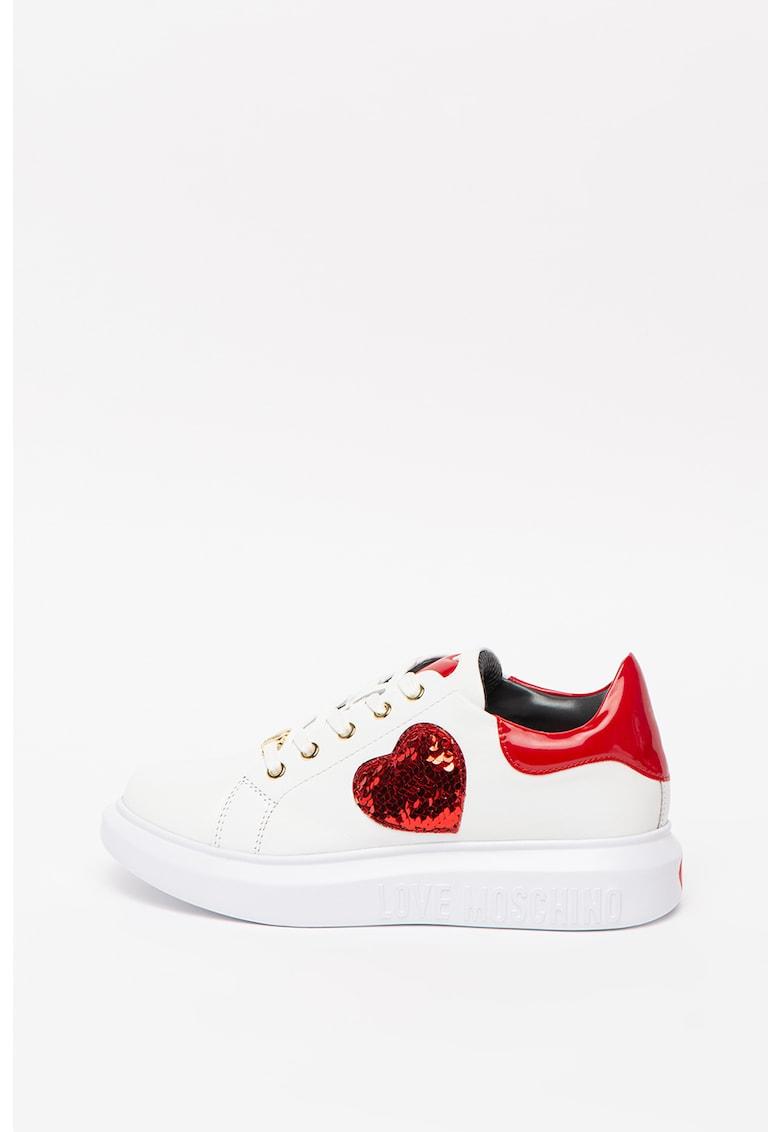 Pantofi sport cu inima din paiete imagine