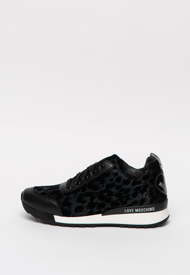 Pantofi sport din piele ecologica cu insertii din material textil imagine