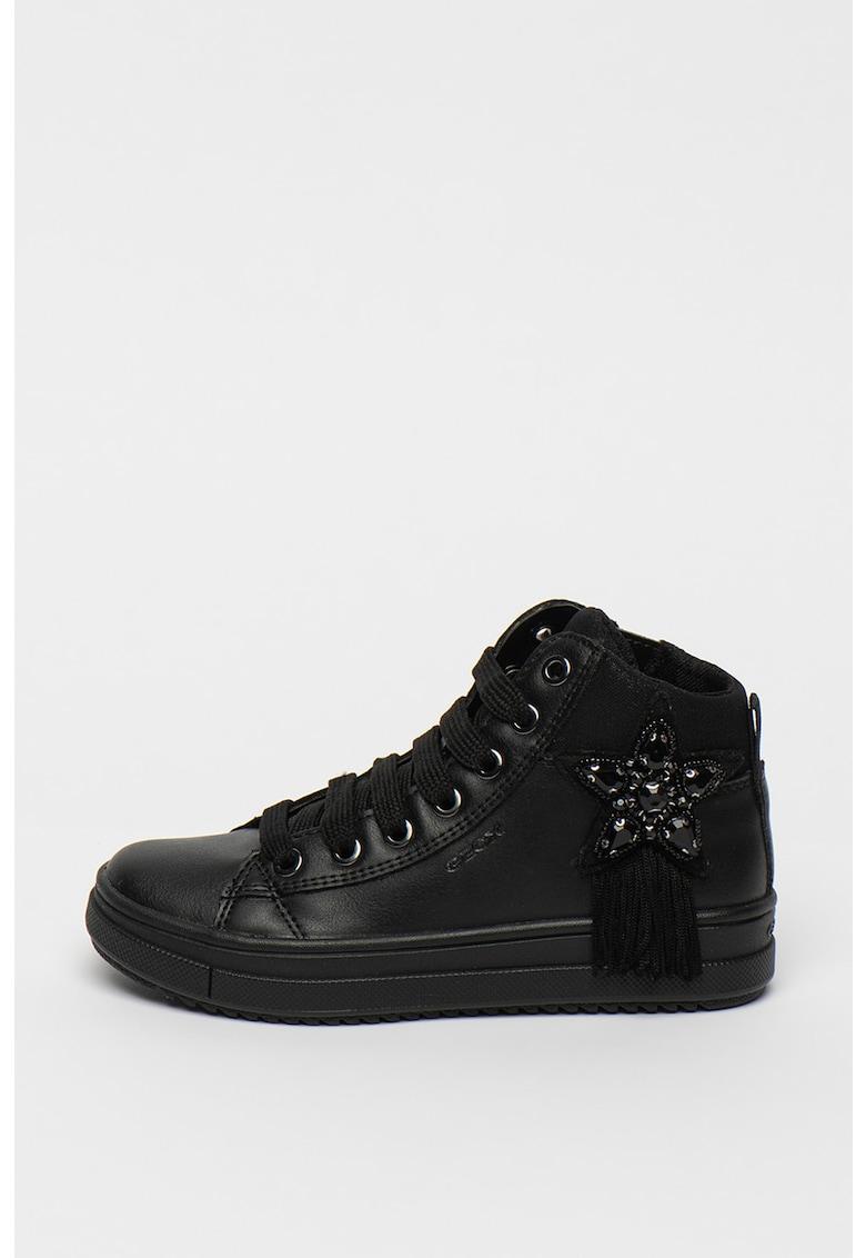 Pantofi sport inalti de piele ecologica Rebecca