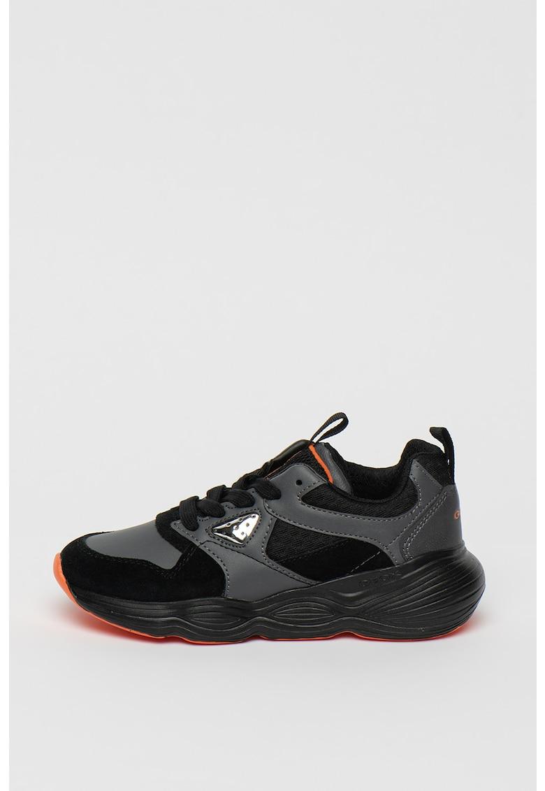 Pantofi sport de piele intoarsa si piele ecologica Bubblex