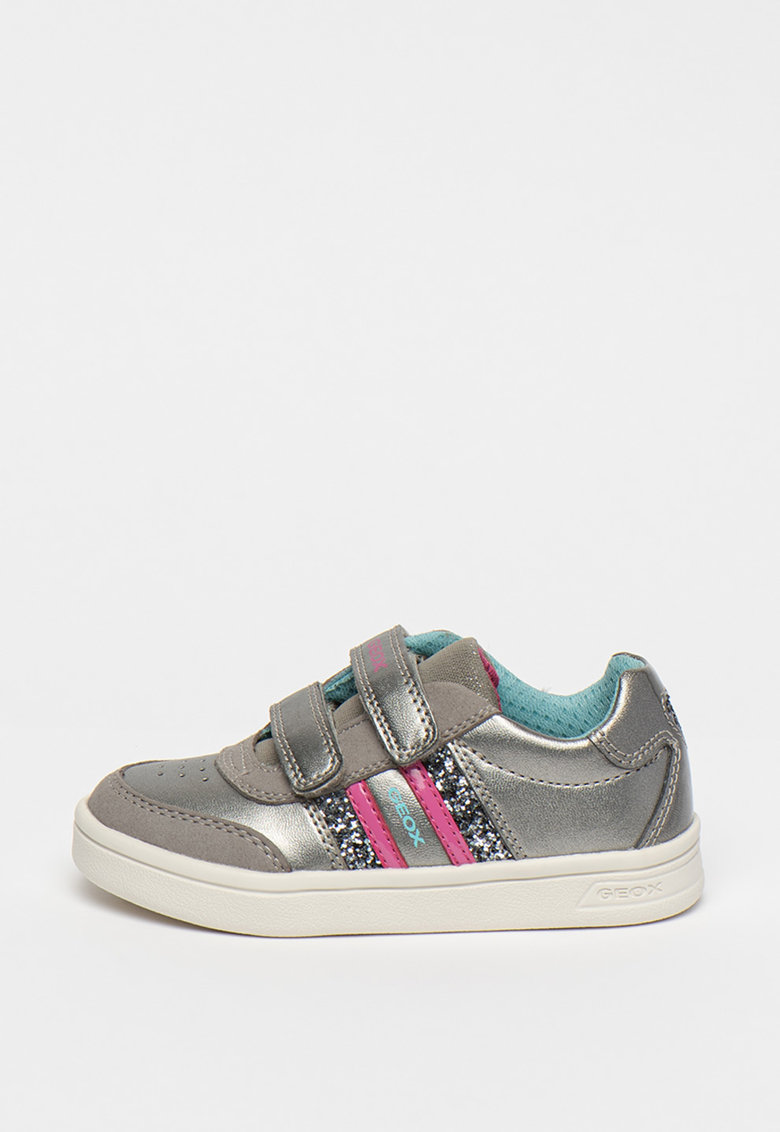 Pantofi sport de piele ecologica cu garnituri de piele intoarsa ecologica