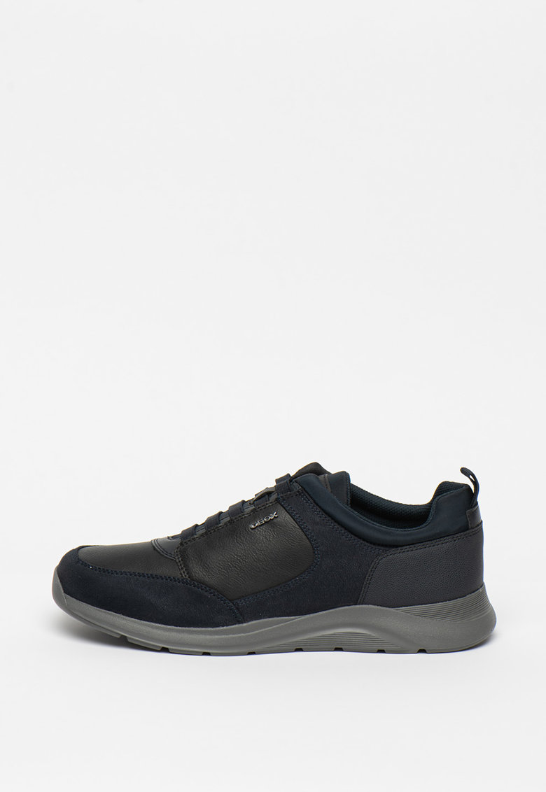 Pantofi sport respirabili cu garnituri de piele intoarsa ecologica Damiano
