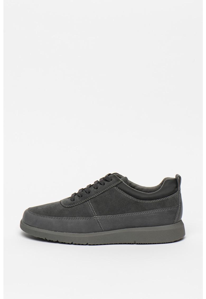 Pantofi sport de piele si piele intoarsa Errico