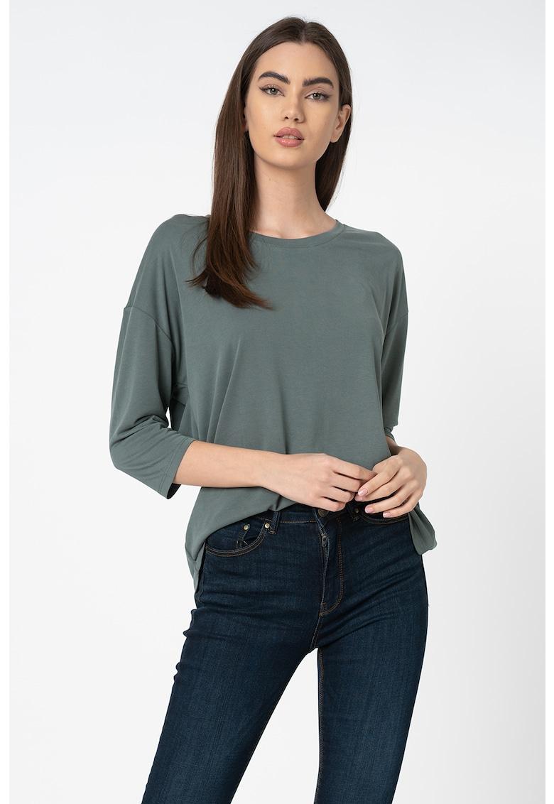 Bluza din amestec de modal cu maneci 3/4 Free