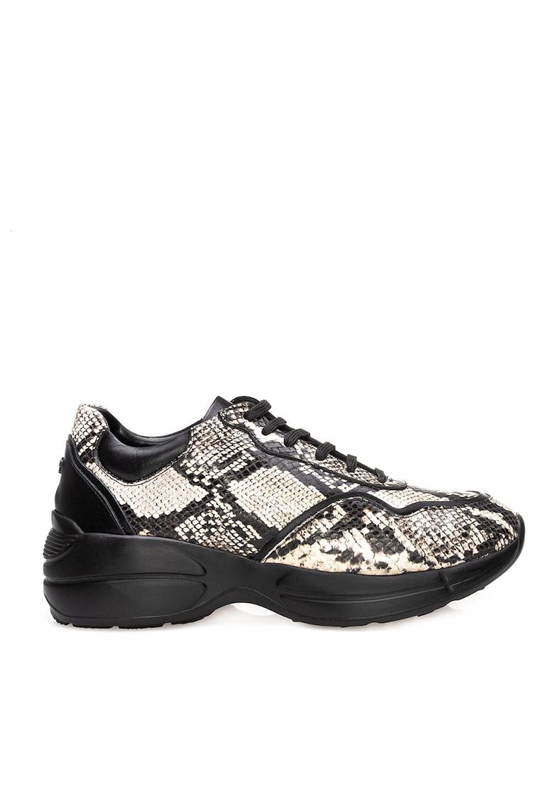 Pantofi sport din piele cu imprimeu cu aspect de piele de reptila Trudie