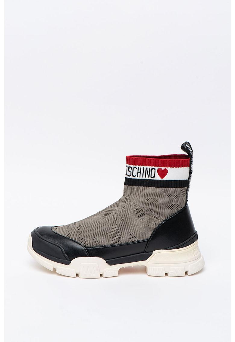 Pantofi sport slip-on cu design soseta