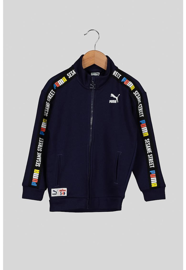 Bluza sport cu fermoar si guler mediu imagine