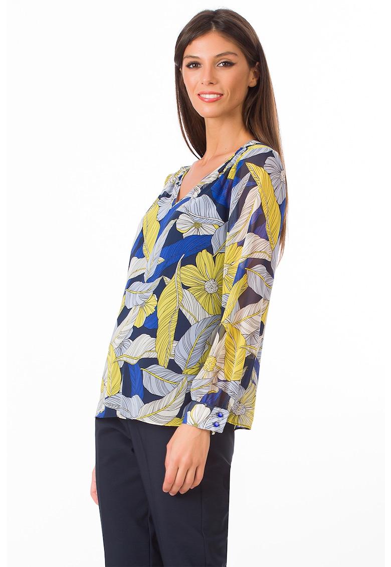 Bluza cu imprimeu si decolteu in V poza fashiondays